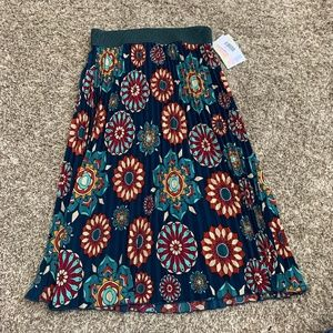 LuLaRoe Jill Boho Print Pleated Skirt